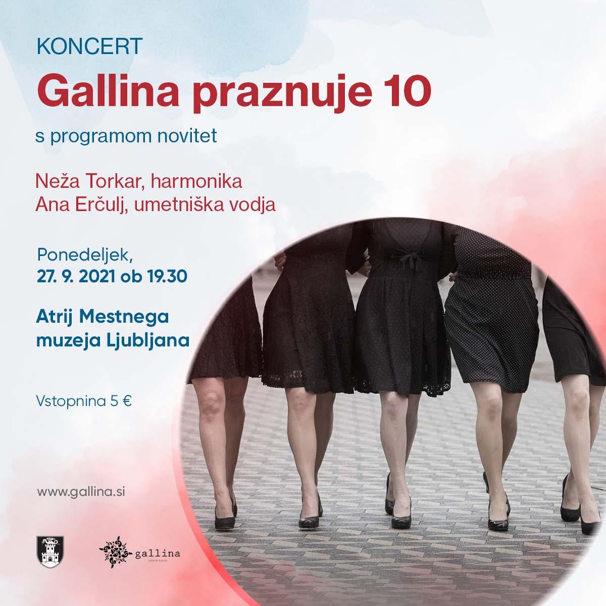 Plakat Galina praznuje 10