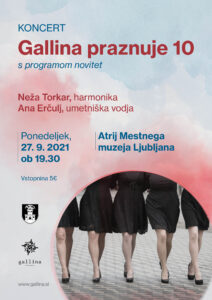 gallina praznuje 10 plakat